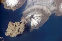 Volcano eruption from Space  Cool