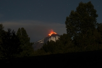 Volcano In Chile Glows In The Nights Sky - uMovingFurtherAway -