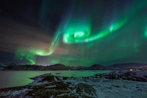 Vortex  Amazing aurora at Sommary Norway benjahning