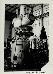 Voskhod  assembly It established milestone in space exploration when Alexei Leonov became the first person to leave the spacecraft in a specialized spacesuit to conduct a -minute spacewalk