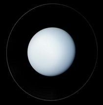 Voyager  had taken this image of Uranus and its ring in January