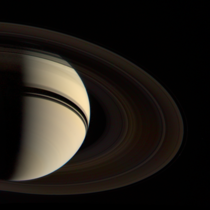 Voyager s departure shot of Saturn August