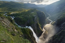 Vringsfossen Norway You can almost see the trolls and elves from here  photo by Justus Steinfeldt