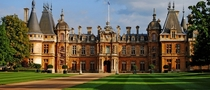 Waddesdon Manor - Buckinghamshire England - Built for Baron Ferdinand de Rothschild between - in the Neo-Renaissance style by architect Gabriel-Hippolyte Destailleur and building contractor Edward Conder amp Son utilizing modern innovations of the late th