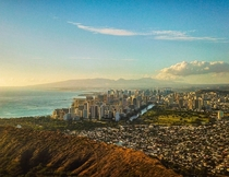 Waikiki and Honolulu from the air