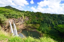 Wailua Falls near Lihue Kauai photographed by Sam Blackman