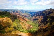 Waimea Canyon also know as the Grand Canyon of the Pacific is a canyon on the island of Kauai It is  miles long  km and up to ft  m deep It was also was formed not by erosion but a collapse of the volcano that created Kauai