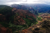 Waimea Canyon Hawaii by helicopter  photo by John Petrick
