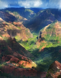 Waimea Canyon Kauai as a storm approaches