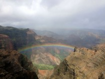 Waimea Canyon Rainbow in Kauai Hawaii