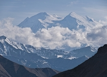 Waited  days for Denali to emerge from behind the clouds It was worth it