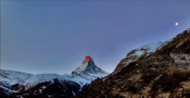 Waited  hours to catch the sunrise-tipped Matterhorn