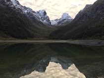 Waiting for sunrise Lake Mackenzie Fiordland National Park New Zealand x