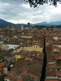 Walked city of Lucca Italy
