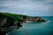 Walking along the Cornish coast - near Port Isaac England