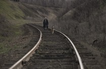 Walking on the tracks in Russia  photo by Denis Bodrov