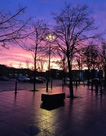 Walking to school was always so much nicer when the sky looked like this D Manchester England