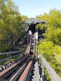 walking up an abandoned rollercoaster