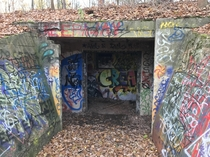 Walled-off Tunnel in the woods Germany