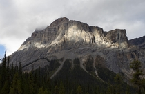 Wapta Mountain in partial sunlight Yoho National Park Canada