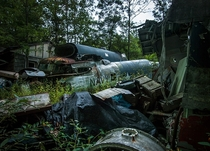 Warplane graveyard Ohio  Photo by Johnny Joo