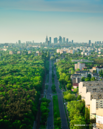 Warsaw is pretty green city