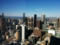 Was in Melbourne Australia for a few hours today View from a th floor