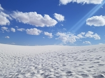 Was inspired to share a different view of Whitesands NM