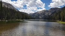 Was lucky enough to discover this beautiful fly fishing spot last weekend Lake Geneva Big Horn Mountains Wyoming