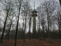 Was surprised by this old cold war radio tower in the woods almost felt like a scene from Star wars Denmark OC