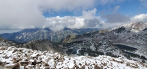 Wasatch MountainsRed Pine Lakes from Pfeifferhorn