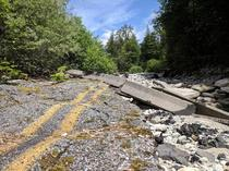 Washed out road in Index Wa