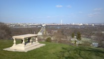 Washington DC from the grave of Pierre Charles LEnfant Arlington National Cemetery