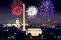 Washington DC with fireworks