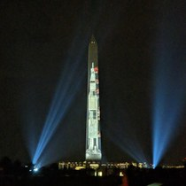 Washington Monument honoring the th anniversary of Apollo  Mission to the Moon