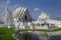 Wat Rong Khun White Temple Unconventional Buddhist Temple in Chiang Rai Thailand