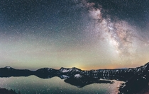 Watched the Milky Way rise over Crater lake Oregon  x