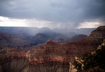 Watching a thunderstorm roll in over the Grand Canyon was simply incredible