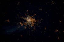 Watching from space you can still see the Berlin Wall by the different color of the lanterns