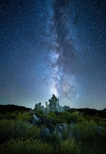 Watching the Milky Way rise over the tufas of Mono Lake felt ethereal