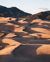 Watching the shadows get longer at Great Sand Dunes National Park and Preserve in Colorado