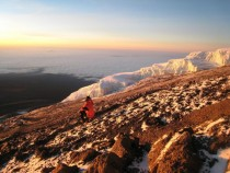Watching the sun rise at MtKilimanjaro