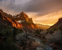 Watching time go by Whats your favorite National park Here a wonderful sunset photo from Zion National Park in Utah Backstory belowOC  Ig  john_perhach_photo