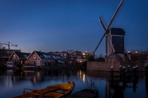Water and Windmills in Leiden Netherlands