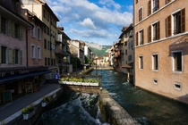 Water canals in Annecy Haute-Savoie France