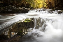 Water flowing through Tennessees Smoky Mountains after a rainy two weeks Photo by Chris Hatfield
