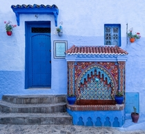 Water fountain in Chefchaouen Morocco