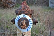 Water Hydrant - abandoned military housing in Cape Cod