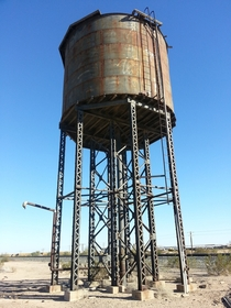 Water Tower for steam engines east of Yuma AZ