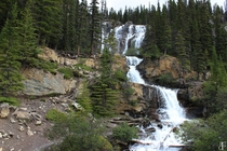 Waterfall Along the Icefields Parkway Alberta